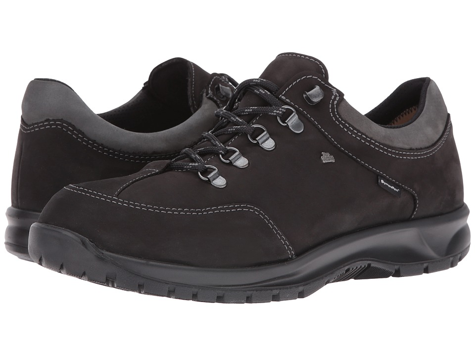 Finn Comfort - Murnau (Black/Asphalt Buggy/Patagonia) Lace up casual Shoes