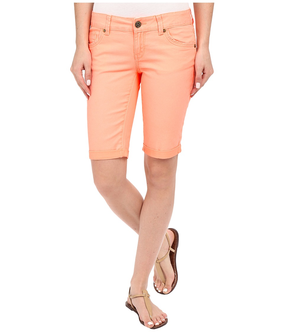 U.S. POLO ASSN. - Calusa Colored Denim Bermuda Shorts (Neon Orange) Women's Shorts