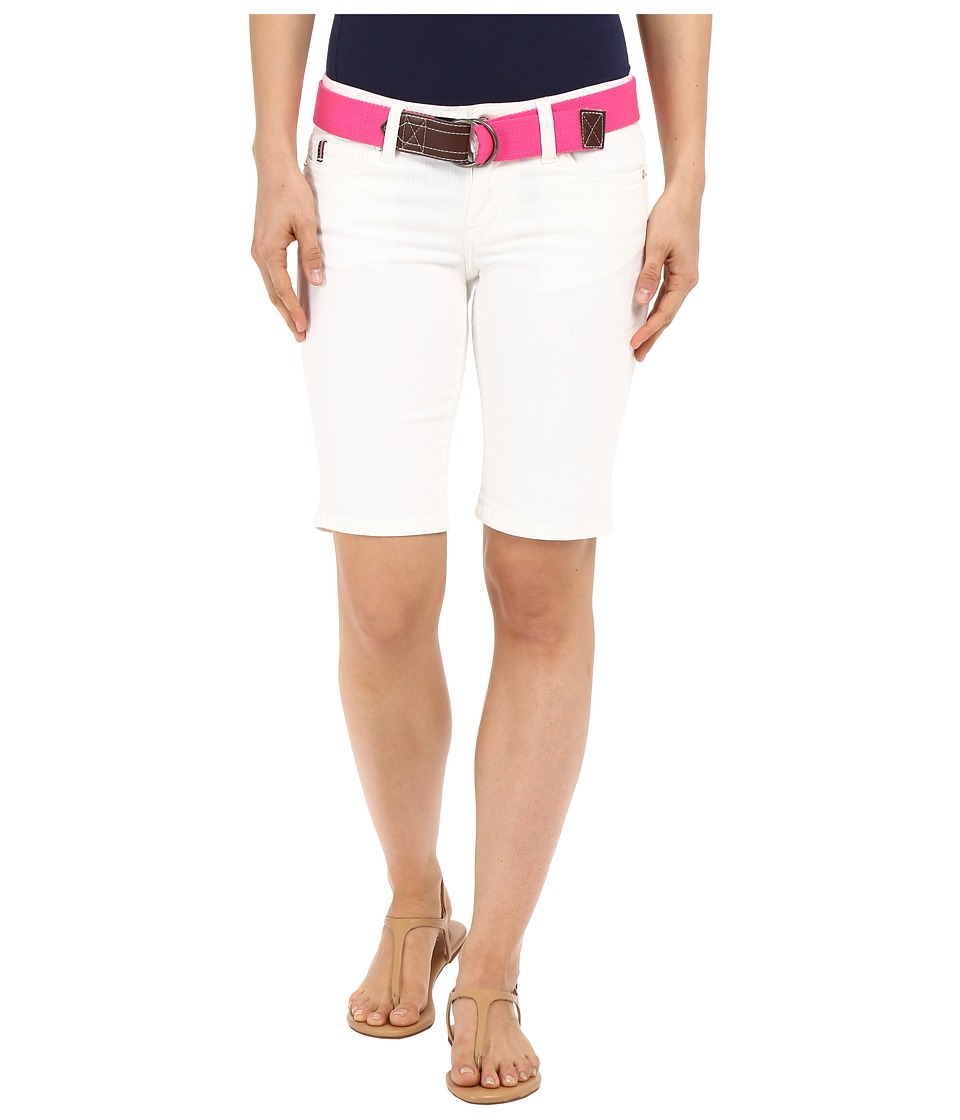U.S. POLO ASSN. - Stretch Denim Bermuda Shorts (White) Women's Shorts