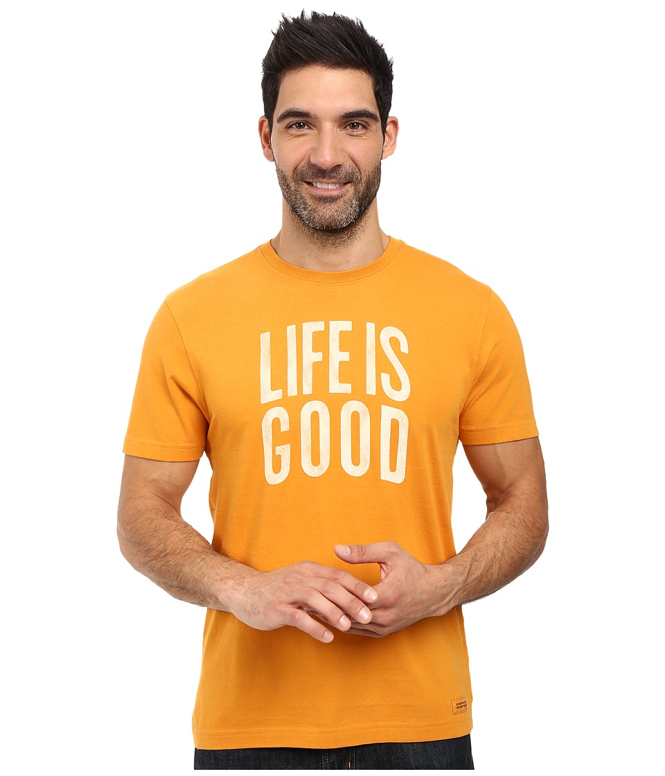 Life is Good - Life is Good(r) Arch Crusher Tee (Artisan Gold) Men's T Shirt
