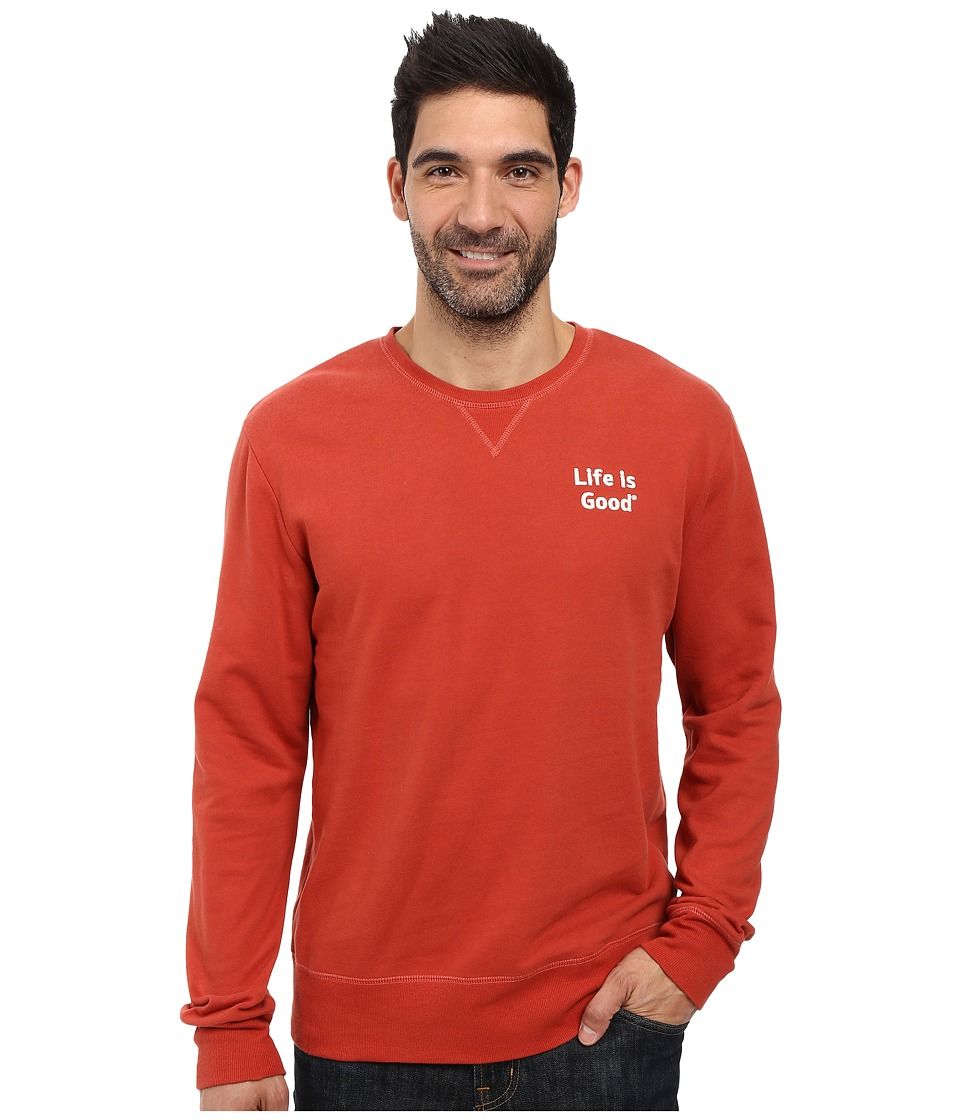 Life is good - Life is Good Bold Go-To Crew (Earthy Rust) Men's Long Sleeve Pullover