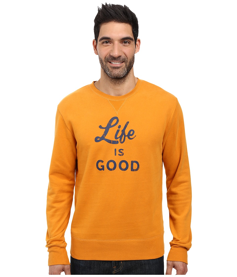 Life is good - Life is Good Script And Bold Go-To Crew (Artisan Gold) Men's Long Sleeve Pullover