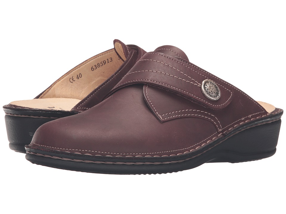 Finn Comfort - Santa Fe-S (Bordo Algave) Women's Clog Shoes