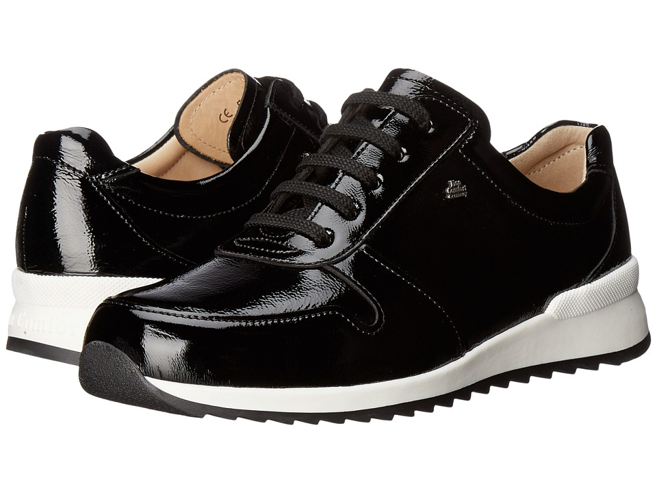 Finn Comfort - Sidonia (Black Patent) Women's Lace up casual Shoes