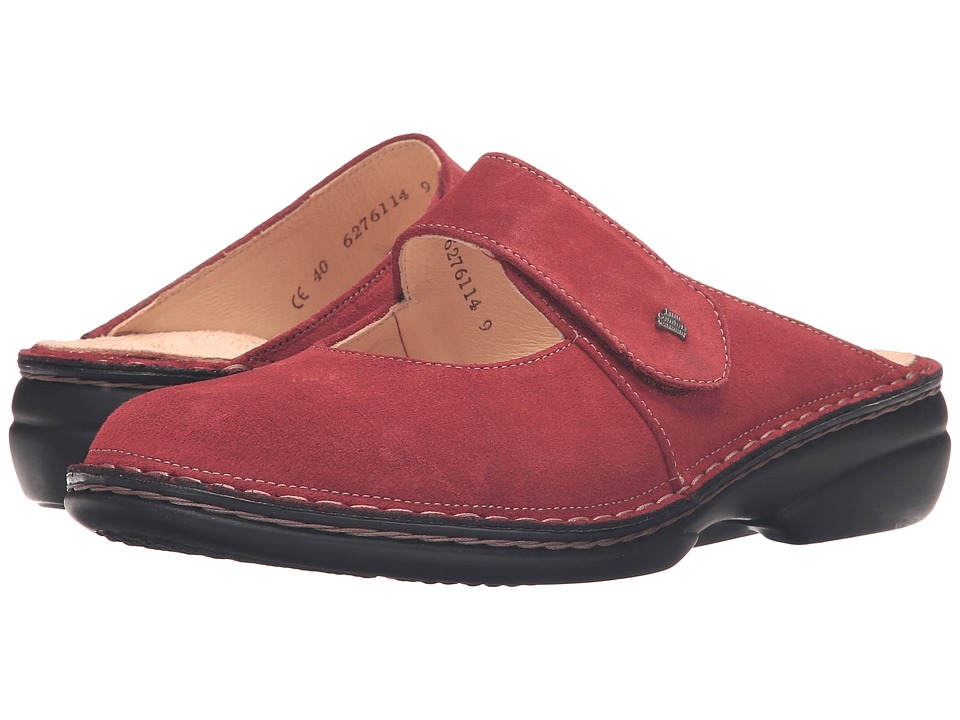 Finn Comfort - Stanford (Inkared Velour) Women's Clog/Mule Shoes