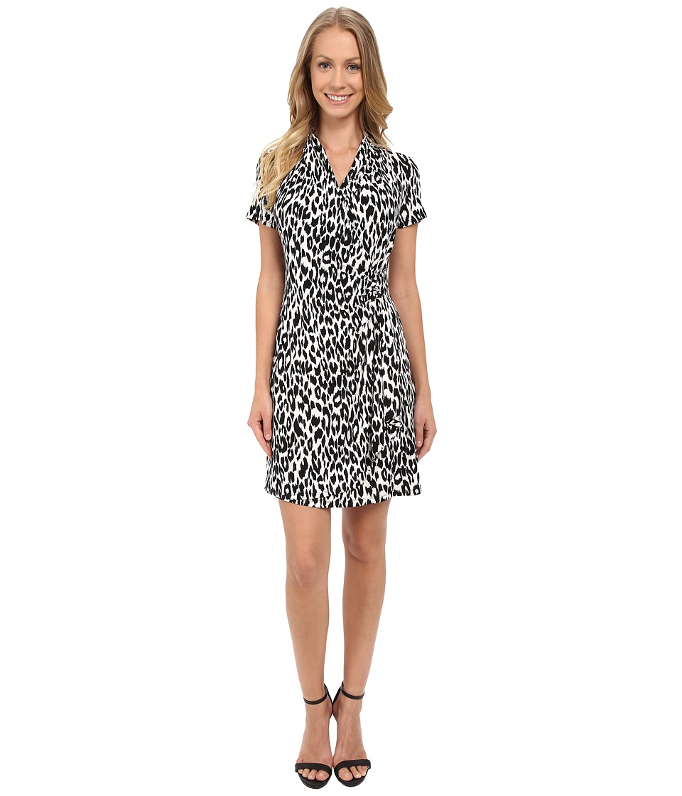 Karen Kane Cascade Wrap Dress (Black 2) Women