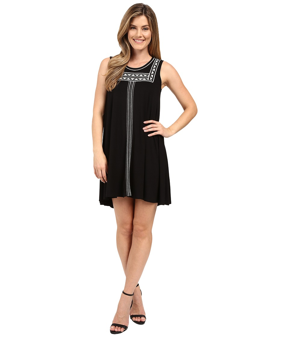 Karen Kane - Embroidered Sleeveless Trapeze Dress (Black) Women's Dress