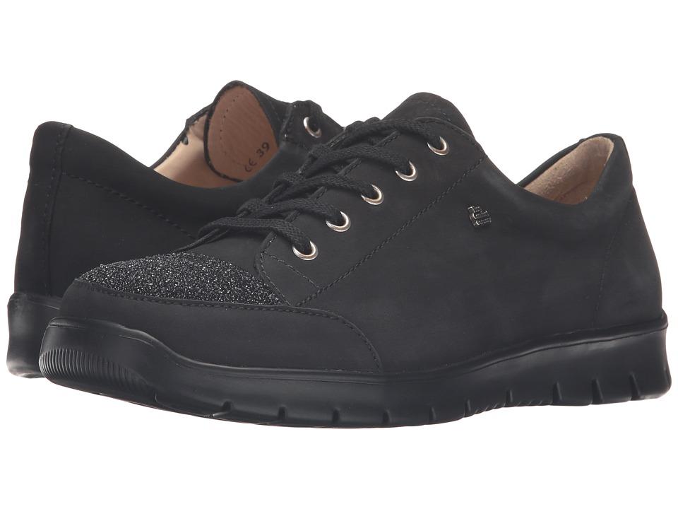 Finn Comfort - Swansea (Black/Nero Nubuk/Jannots) Women's Lace up casual Shoes
