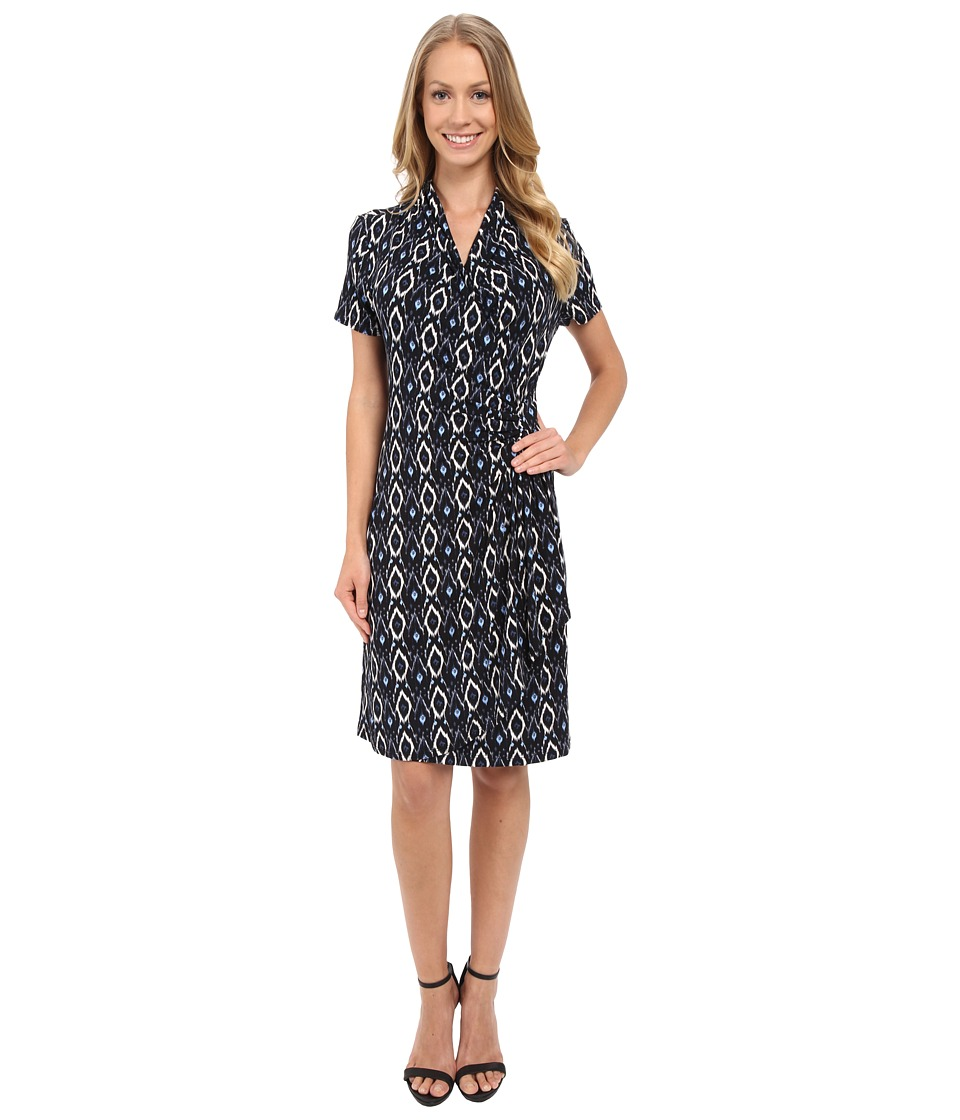 Karen Kane - Cascade Wrap Dress (Black) Women's Dress