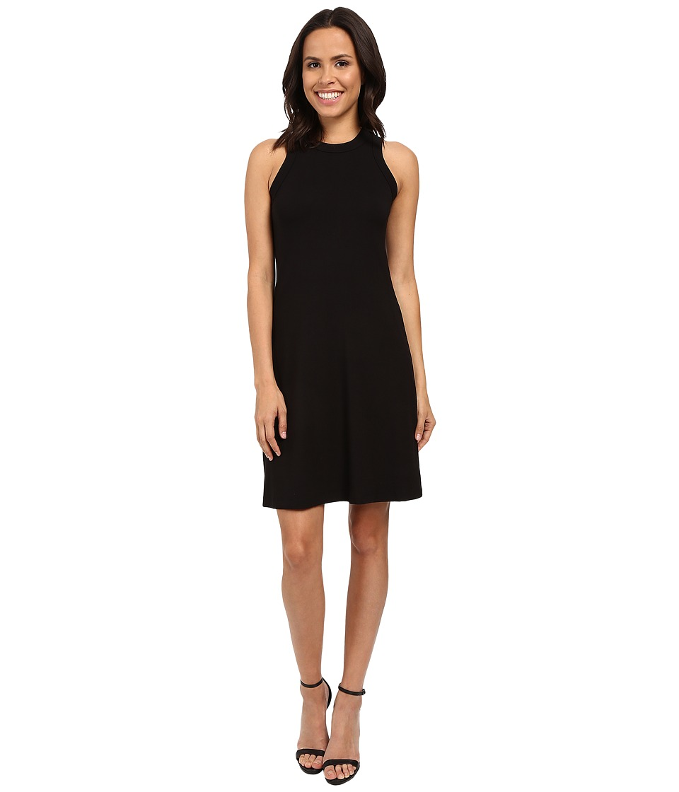 Karen Kane - Hi Neck A-Line Dress (Black) Women's Dress