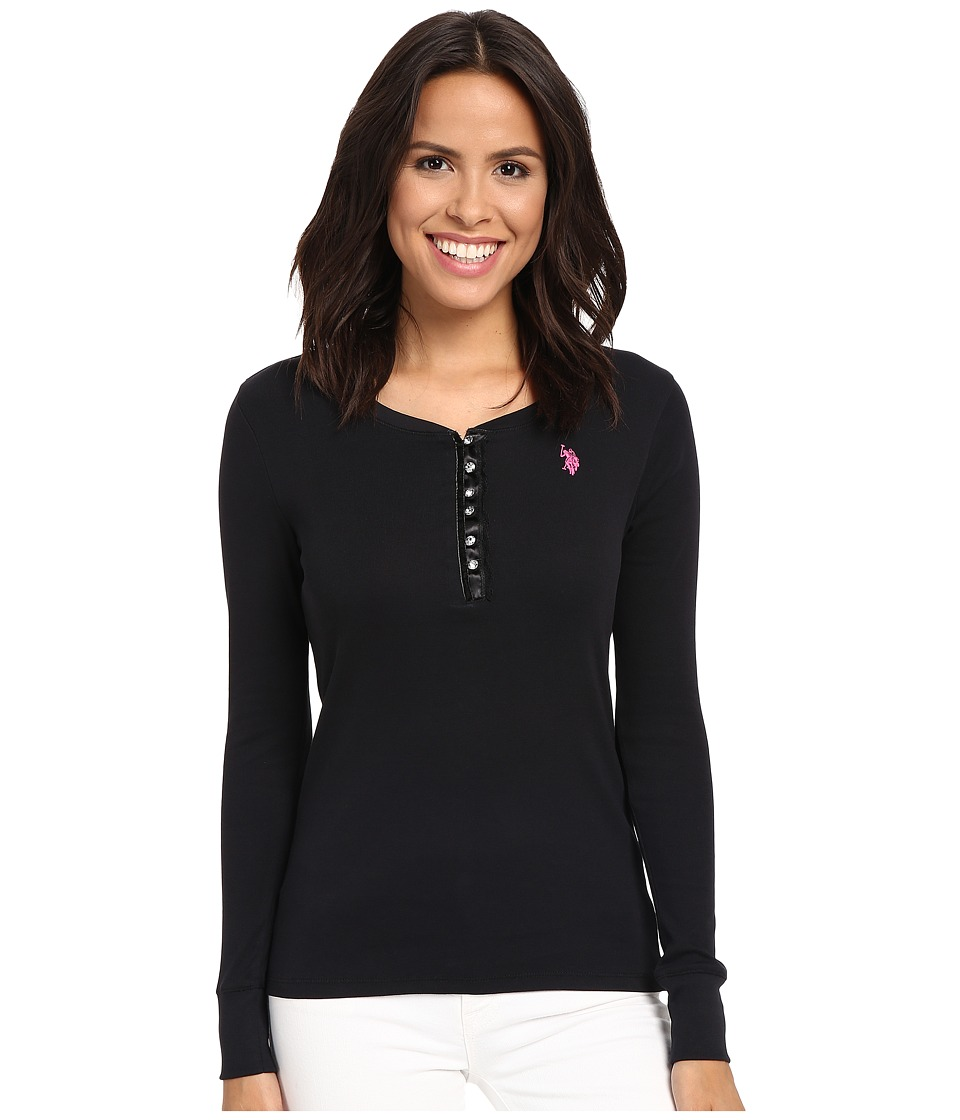 U.S. POLO ASSN. - Bling Henley (Anthracite) Women's Clothing