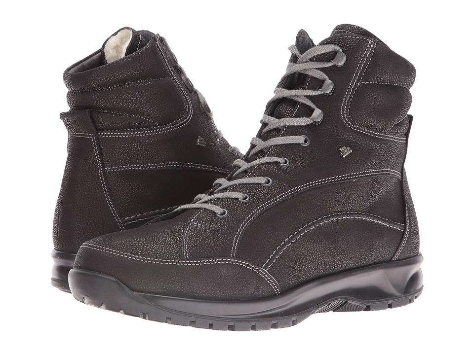 Finn Comfort - Whistler (Black Long Beach) Men's Slip on Shoes