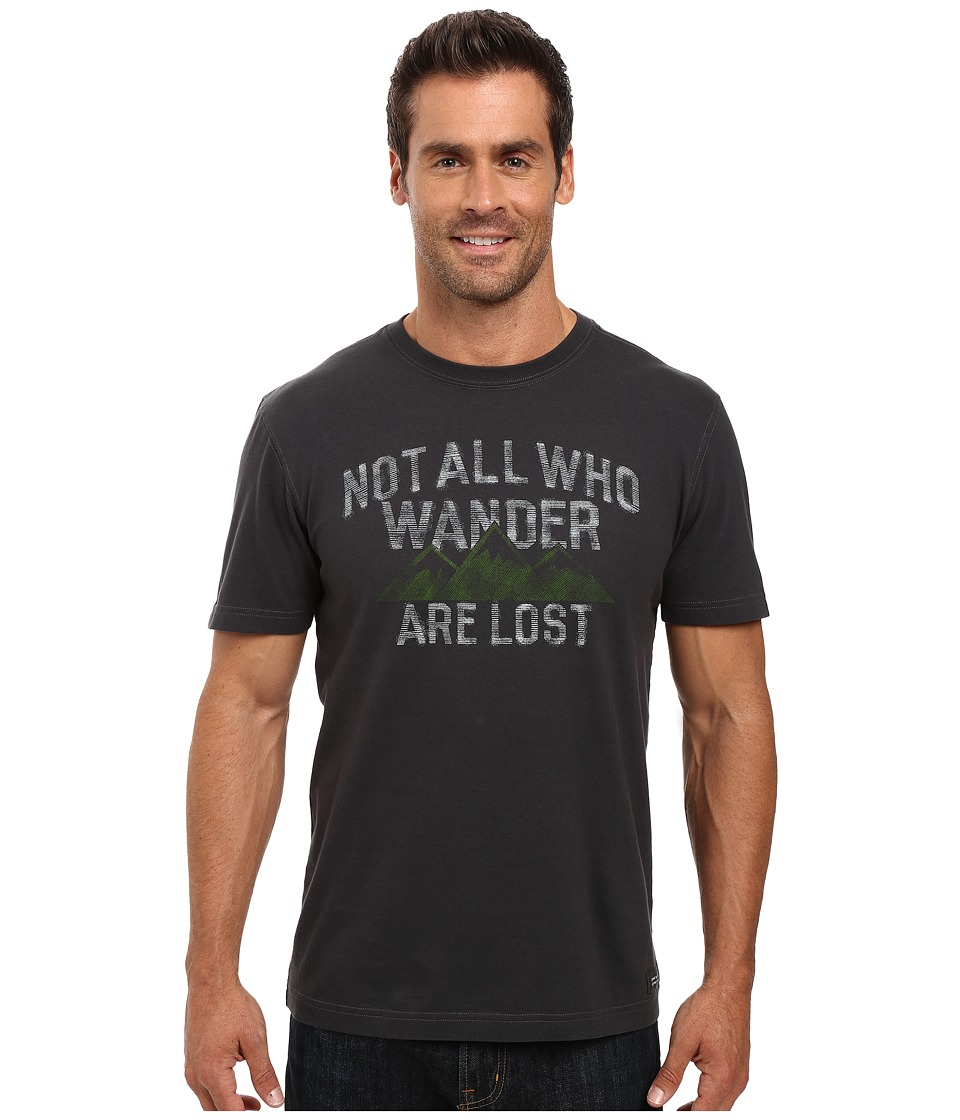 Life is good - Not All Who Wander Are Lost Crusher Tee (Night Black) Men's T Shirt