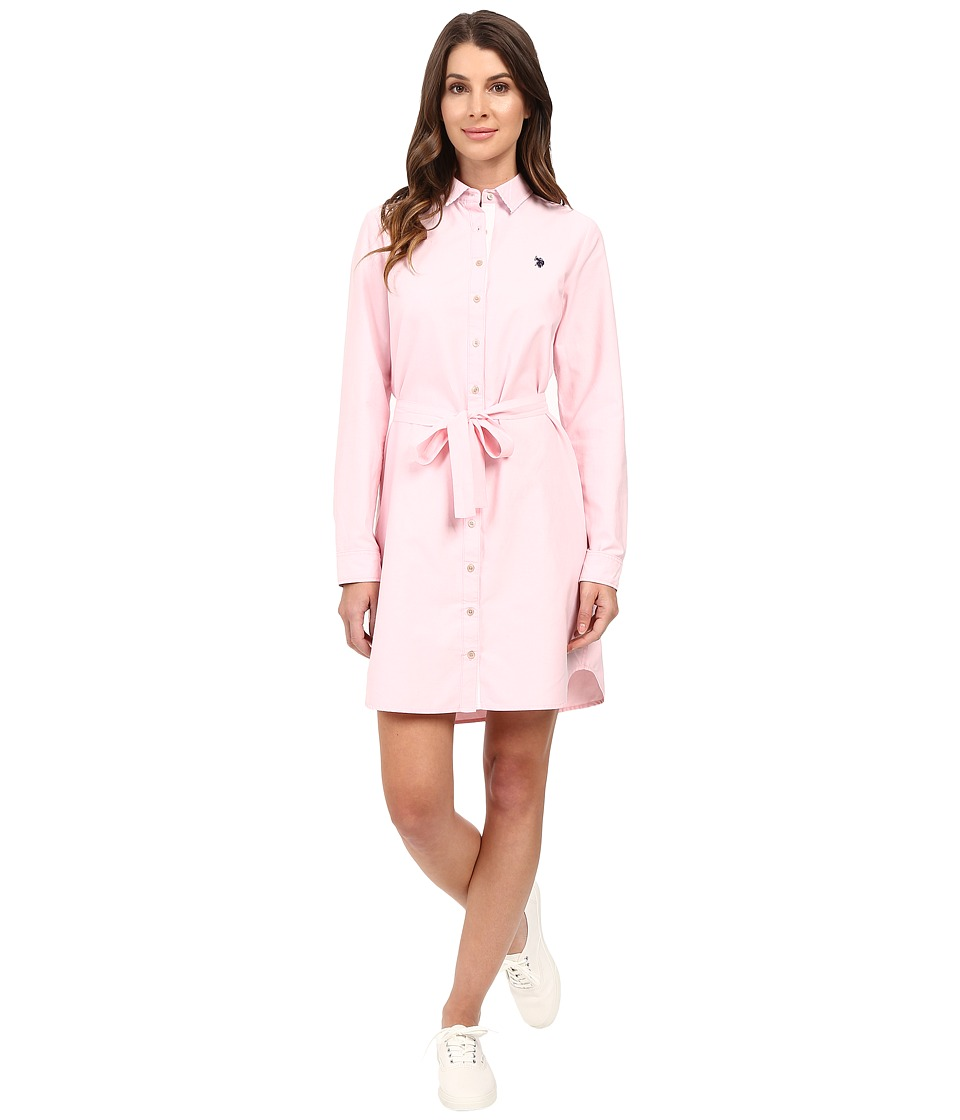 U.S. POLO ASSN. - Oxford Dress (Pink Lady) Women's Dress