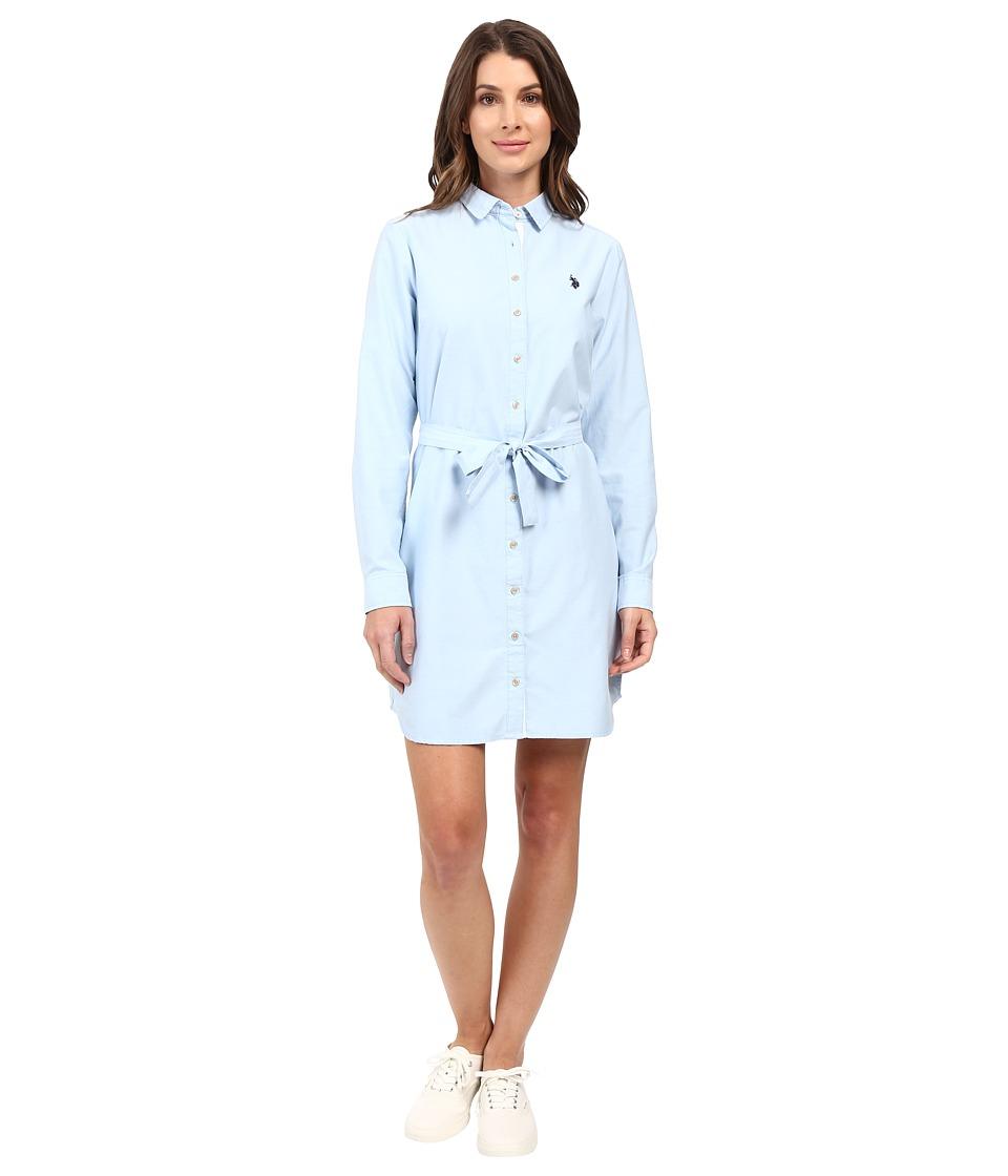 U.S. POLO ASSN. - Oxford Dress (Alaskan Blue) Women's Dress