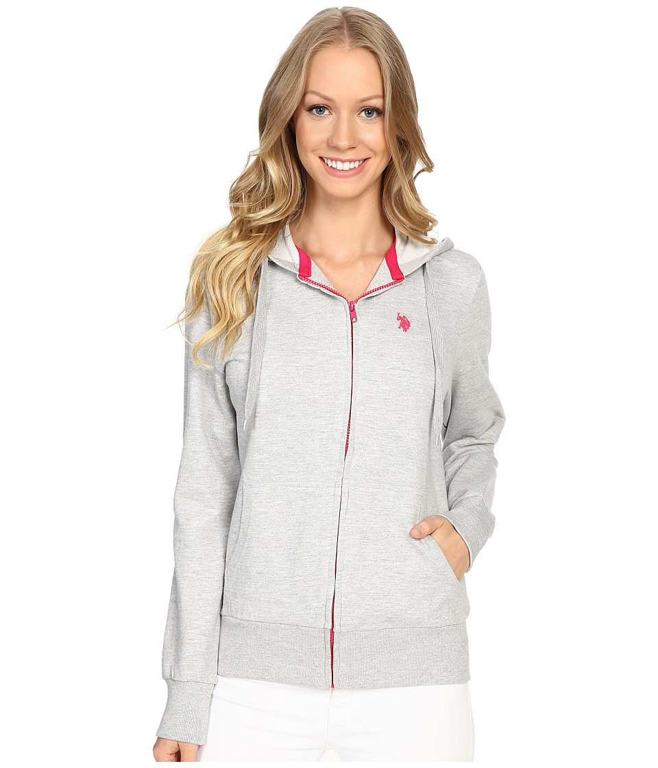 U.S. POLO ASSN. - Easy Hoodie (Heather Grey) Women's Sweatshirt