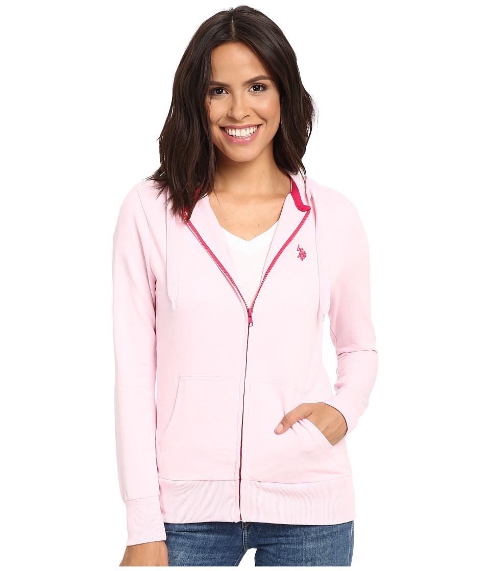 U.S. POLO ASSN. - Easy Hoodie (Pink Lady) Women's Sweatshirt