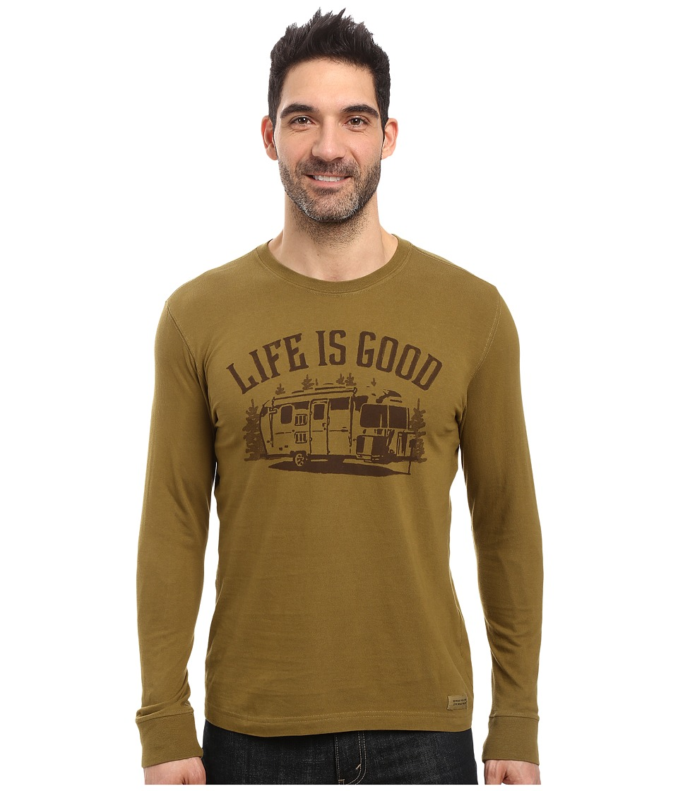 Life is good - Life is Good Airstream Long Sleeve Crusher Tee (Woodland Green) Men's Long Sleeve Pullover