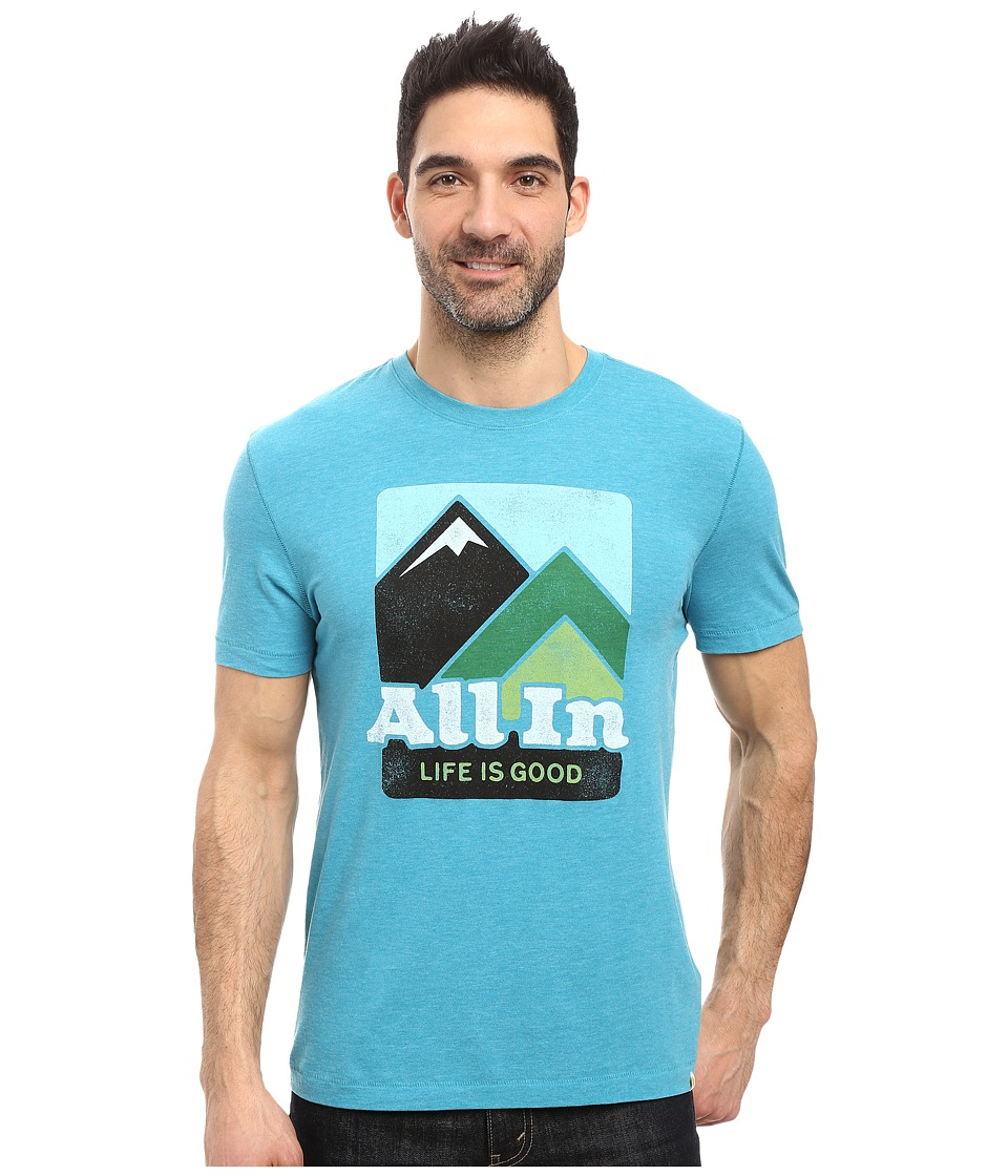 Life is good - All In Mountains Cool Tee (Vivid Blue) Men's T Shirt