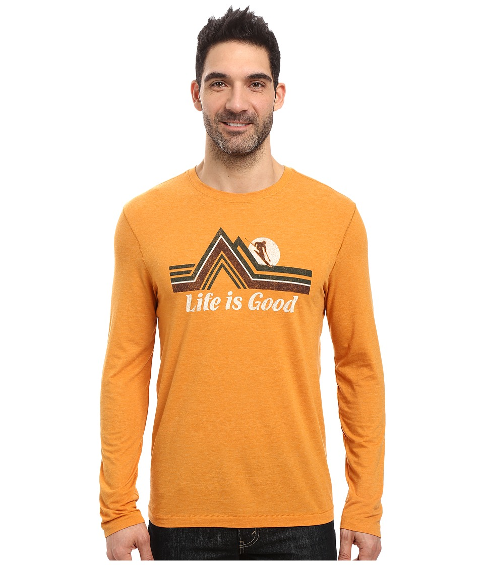 Life is Good - Downhill Long Sleeve Cool Tee (Artisan Gold) Men's Long Sleeve Pullover