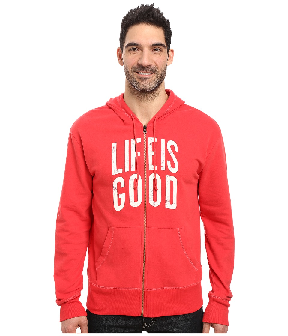 Life is Good - Life is Good(r) Go-To Zip Hoodie (Simply Red) Men's Sweatshirt