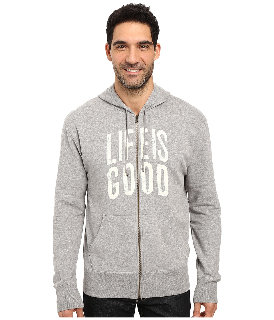 Life is good - Life is Good Go-To Zip Hoodie (Heather Gray) Men's Sweatshirt