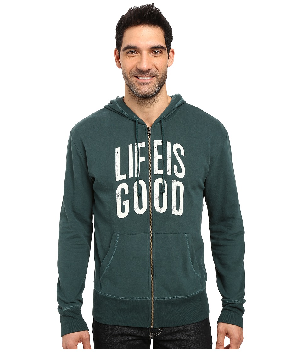 Life is good - Life is Good Go-To Zip Hoodie (Balsam Green) Men's Sweatshirt