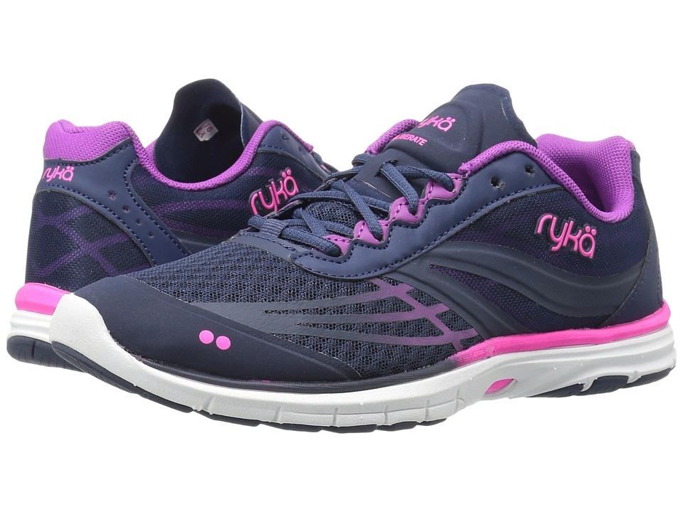 Ryka Deliberate (Insignia Blue/Vivid Berry/Neon Flamingo) Women