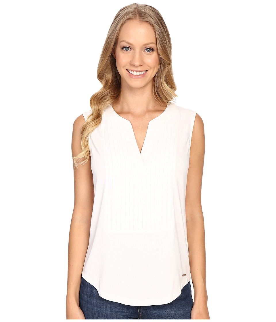 Calvin Klein - Sleeveless Top w/ Pleat Front (Soft White) Women's Sleeveless
