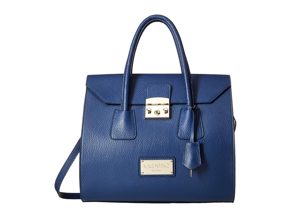 Valentino Bags by Mario Valentino - Brito (Blue Denim) Satchel Handbags