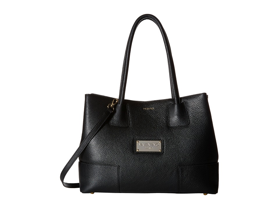 Valentino Bags by Mario Valentino - Beth (Black) Satchel Handbags