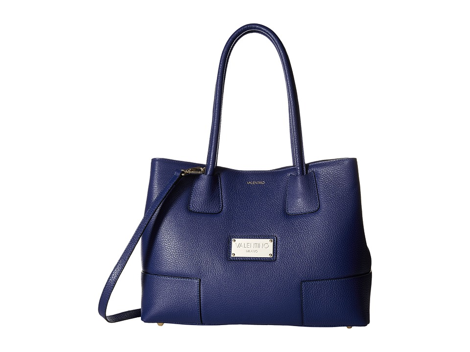 Valentino Bags by Mario Valentino - Beth (Blue Denim) Satchel Handbags