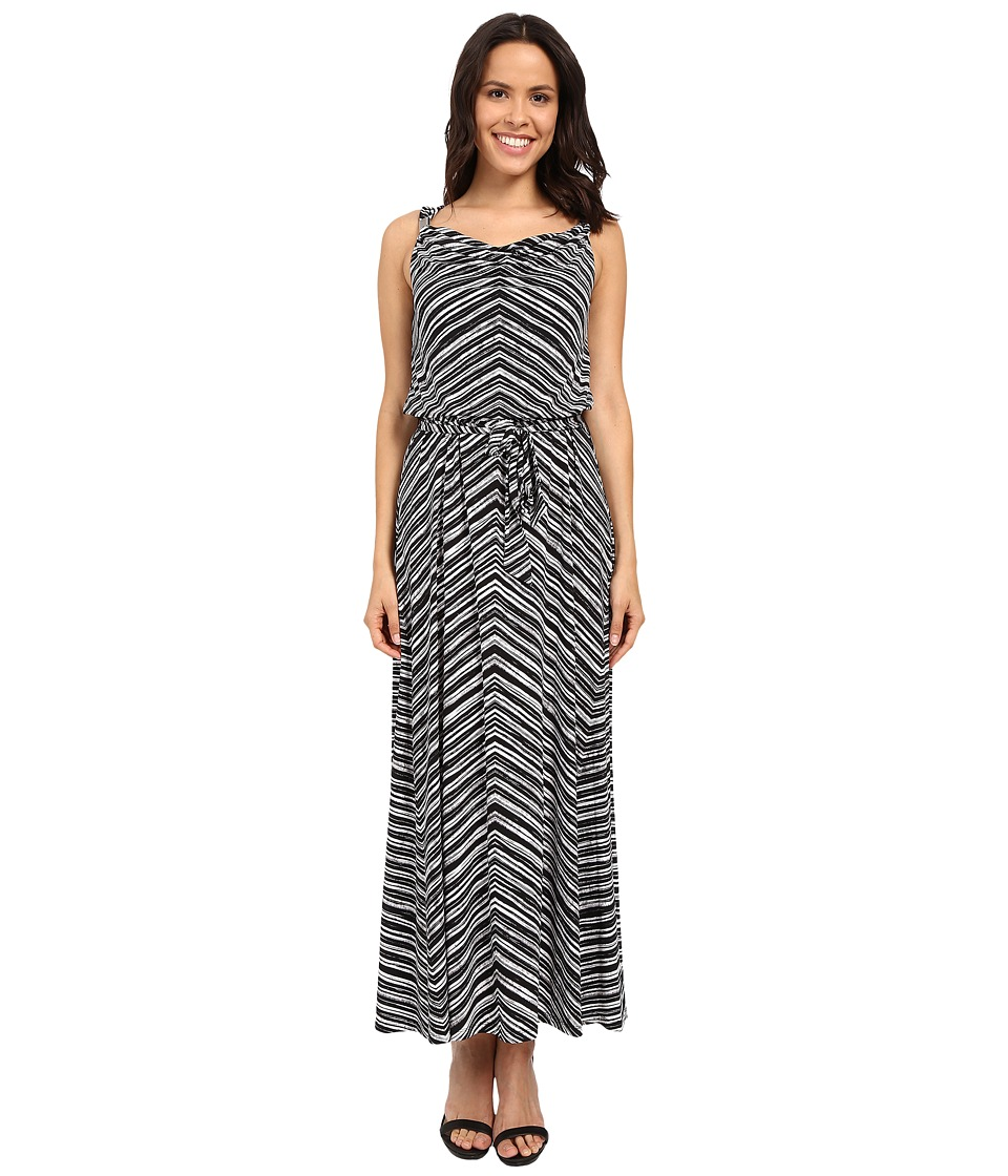 Calvin Klein - Maxi Dress w/ Hardware (Black Stripe) Women's Dress