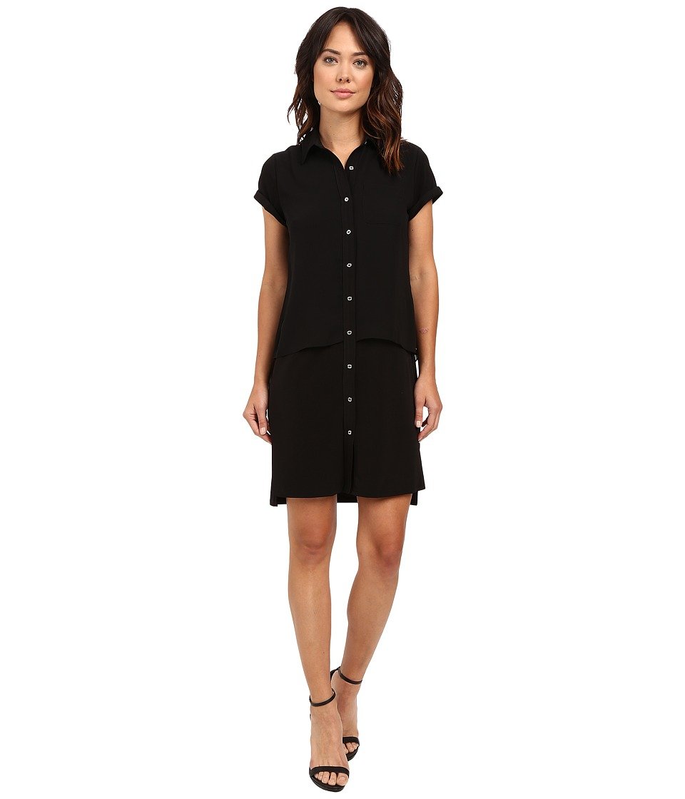 Calvin Klein - Double Layer Dress (Black) Women's Dress
