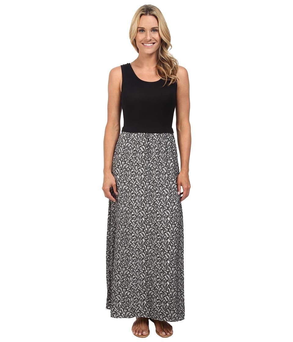 Calvin Klein Maxi Dress w/ Leaf Jauquard (Soft White) Women