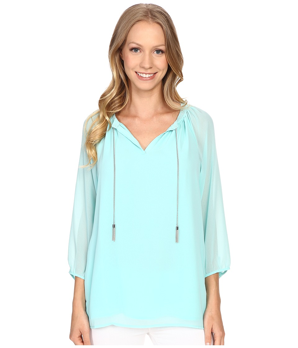 Calvin Klein - 3/4 Top w/ Chain (Seaglass) Women's Blouse