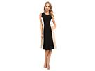 Calvin Klein Color Block Flare Dress
