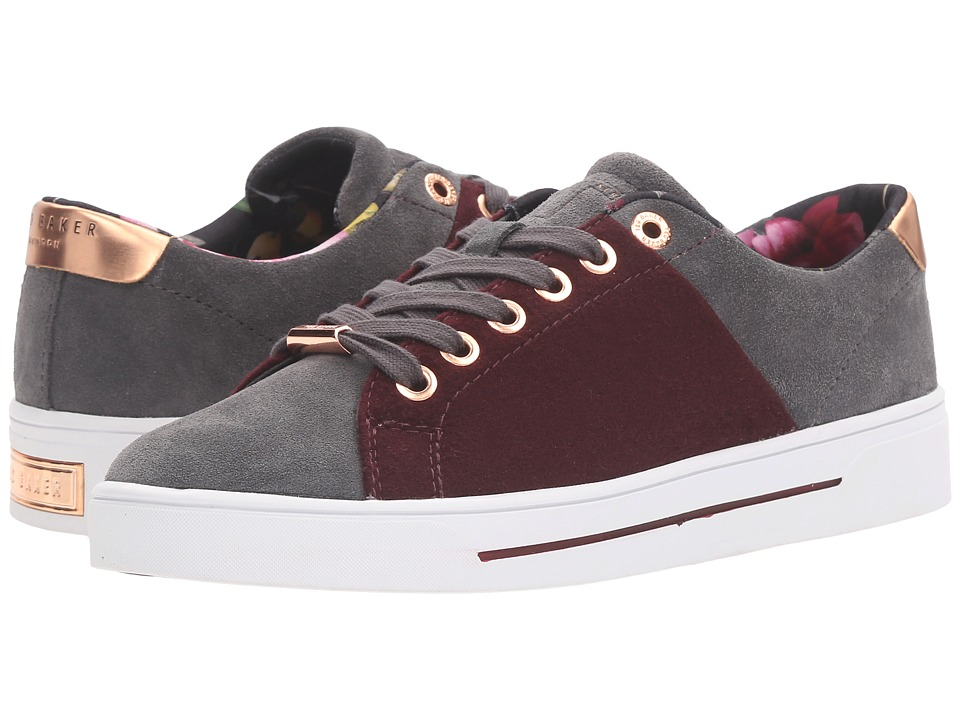 Ted Baker - Ophily (Burgundy/Dark Grey Wool/Suede) Women's Shoes