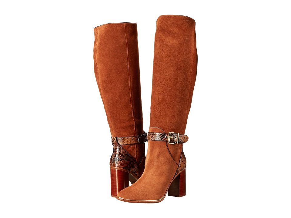 Ted Baker - Niida (Tan Waved Suede/Snake) Women's Boots