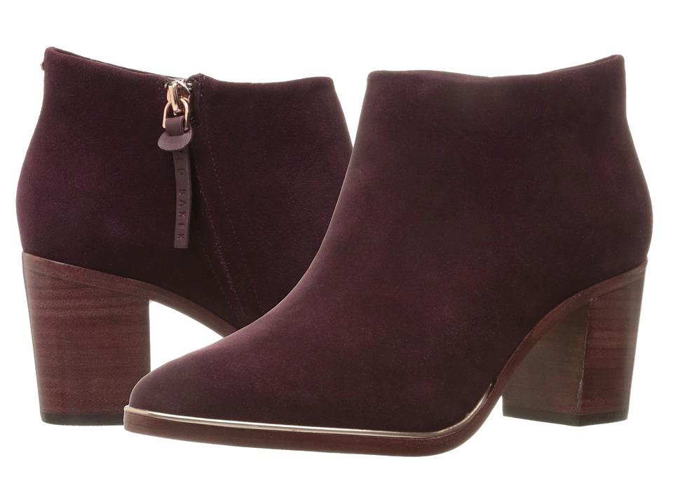 Ted Baker - Hiharu 2 (Burgundy Suede) Women's Boots