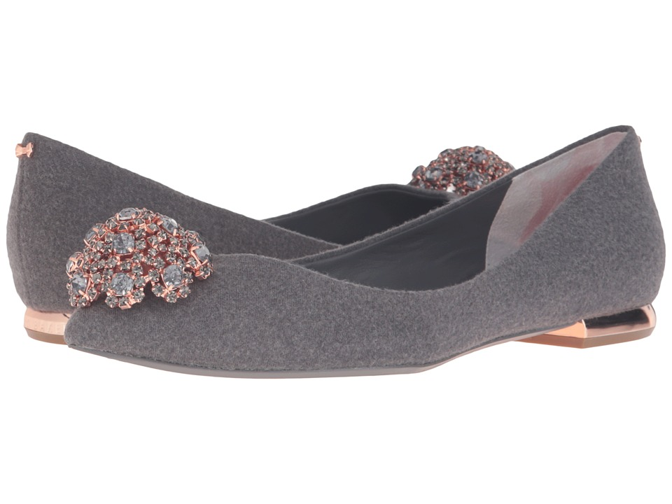 Ted Baker - Ljana (Grey Wool) Women's Flat Shoes