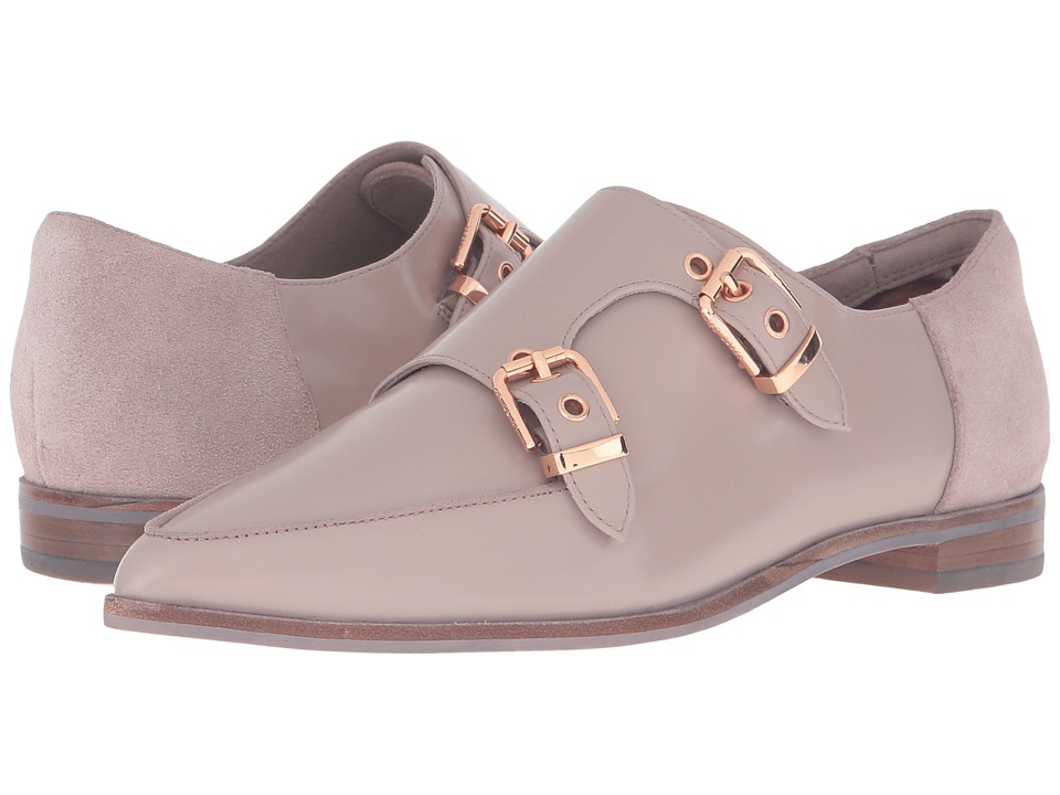 Ted Baker - Naoi (Light Grey Box Leather/Suede) Women's Flat Shoes
