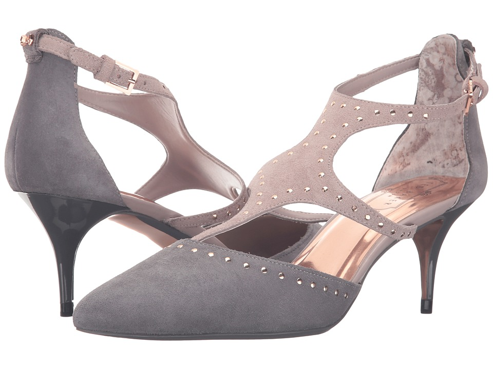 Ted Baker - Dvaita (Dark Grey/Light Grey Suede) Women's Shoes