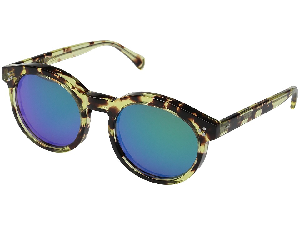 Wildfox - Harper Deluxe (Amber Tortoise/Green Mirror) Fashion Sunglasses
