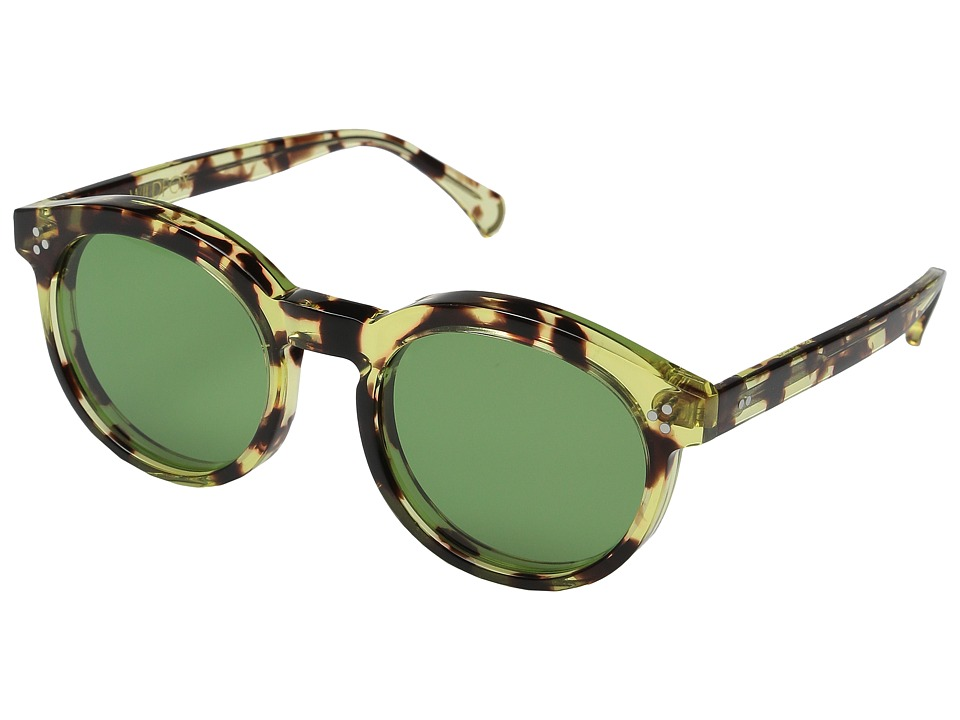 Wildfox - Harper (Amber Tortoise/Bottle Green) Fashion Sunglasses