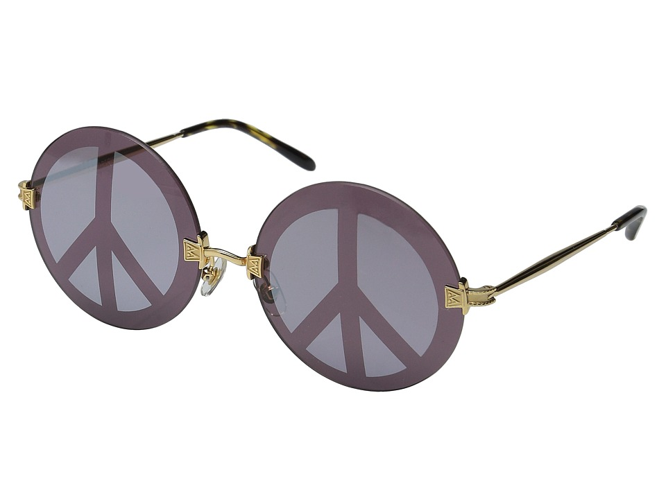 Wildfox - Pearl Deluxe (Gold/Peace Mirror) Fashion Sunglasses