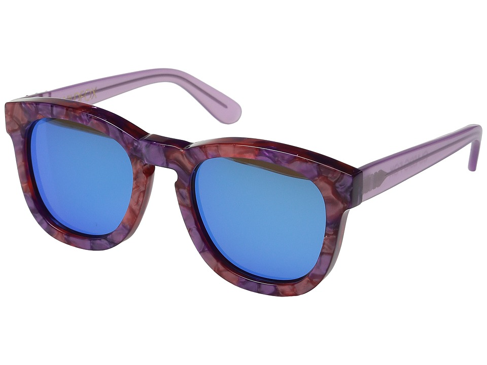 Wildfox - Classic Fox Deluxe (Wildflower/Blue Mirror) Fashion Sunglasses