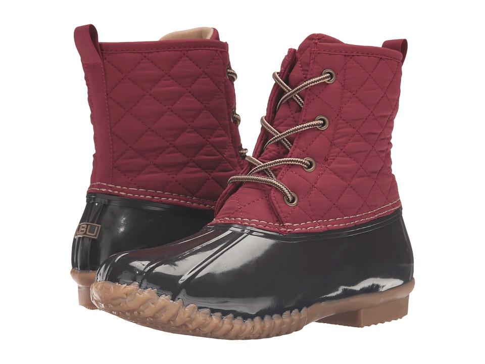 JBU - Stefani (Red/Brown) Women's Lace-up Boots