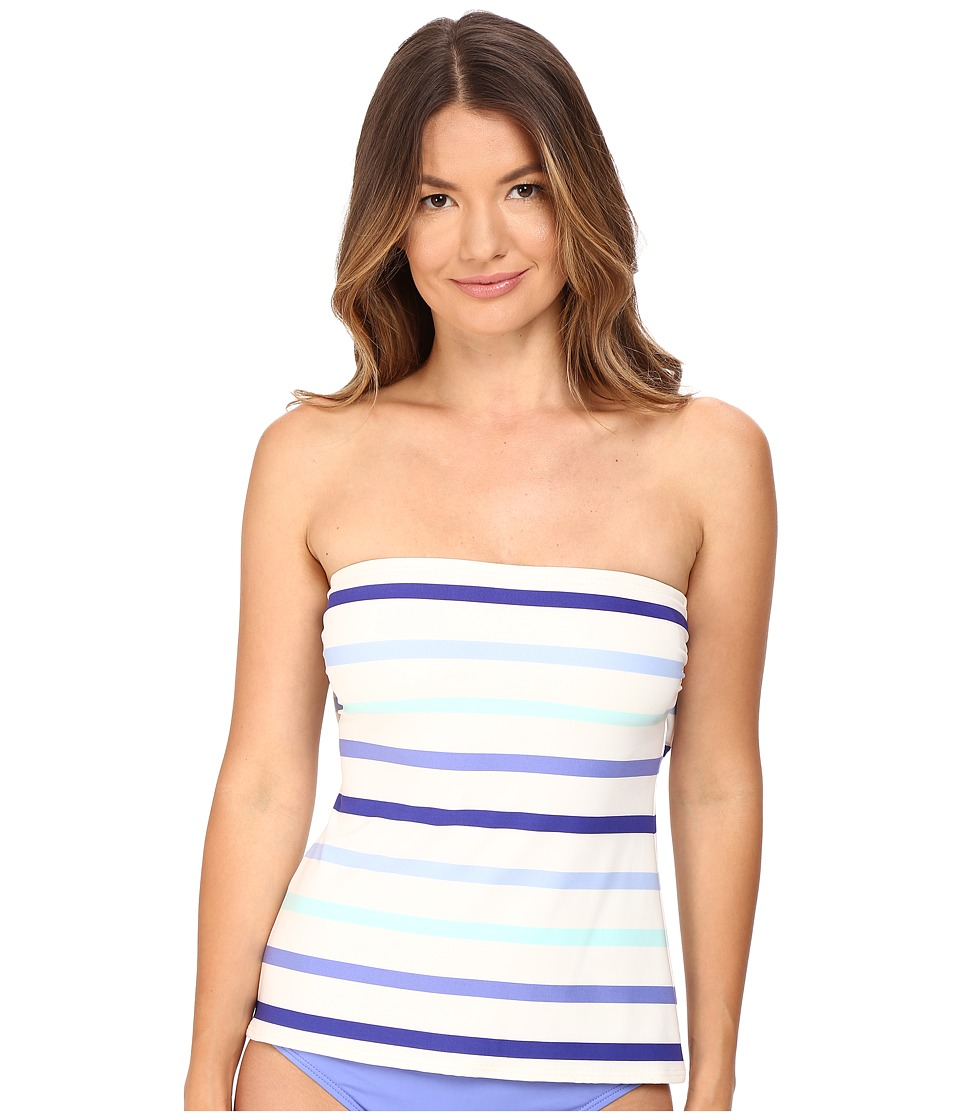 Kate Spade New York Early Cruise 17 Bandeau Tankini (Adventure Blue) Women