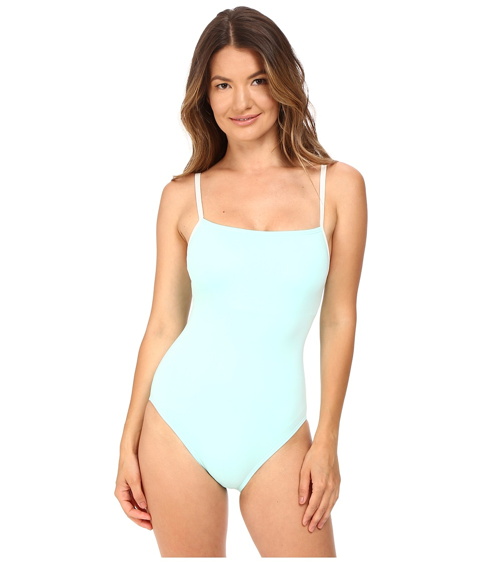 Kate Spade New York - Early Cruise 17 Maillot w/ Mini Bow Strap Detail (Caribbean Sky) Women's Swimsuits One Piece